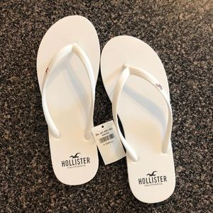White Hollister Sandals